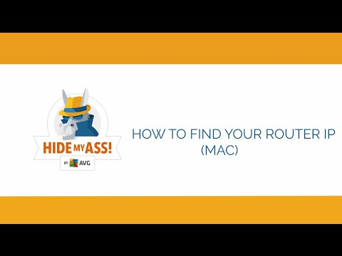 How to find your Router IP Address on Mac OS X| Hide My Ass!