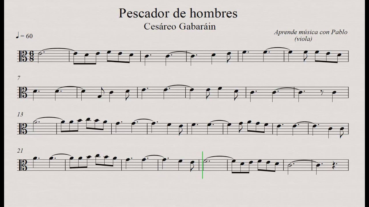 Pescador De Hombres Viola Partitura Con Playback Youtube