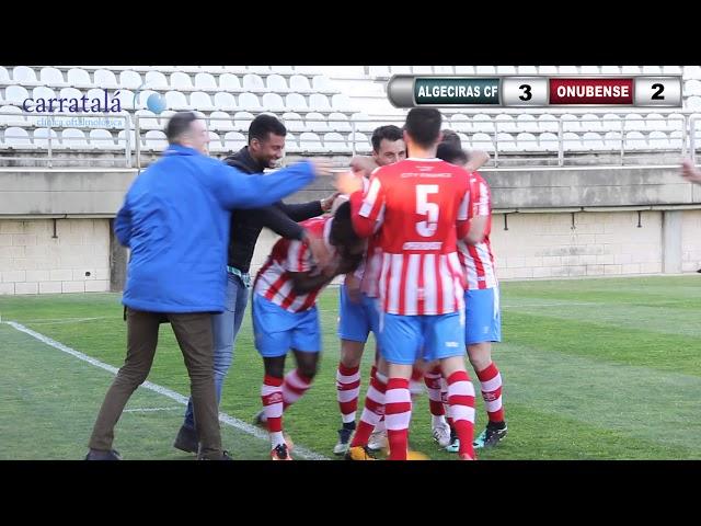 El Algeciras CF rompe su mala racha y salva el partido contra el Atlético Onubense