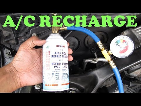 How to Recharge an A/C System - YouTube