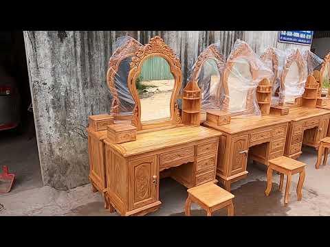 Bàn phấn - Bàn Trang Điểm gỗ Gõ Đỏ 1m1 giá chỉ 5t5