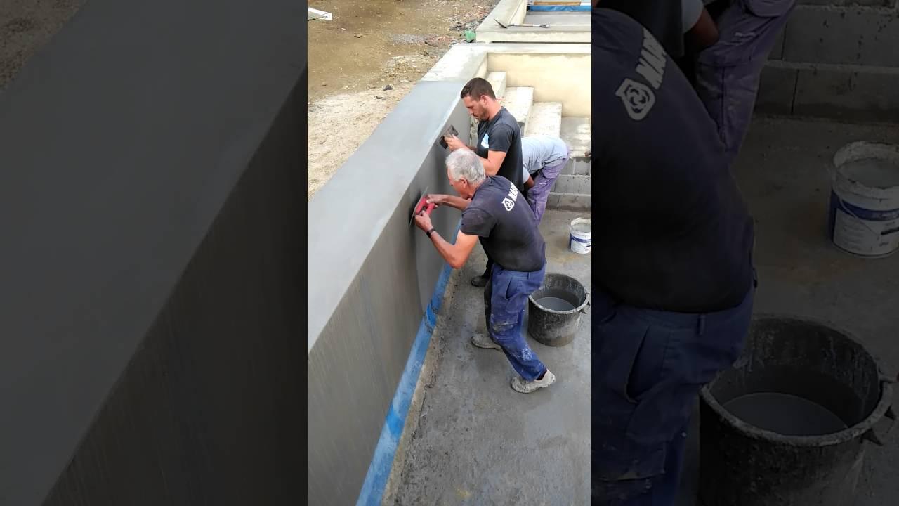 Pdfi aplica o de argamassa impermeabilizante em - Impermeabilizantes para piscinas ...