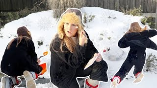 DOING MY MAKEUP IN A SNOW BANK... (freezing)
