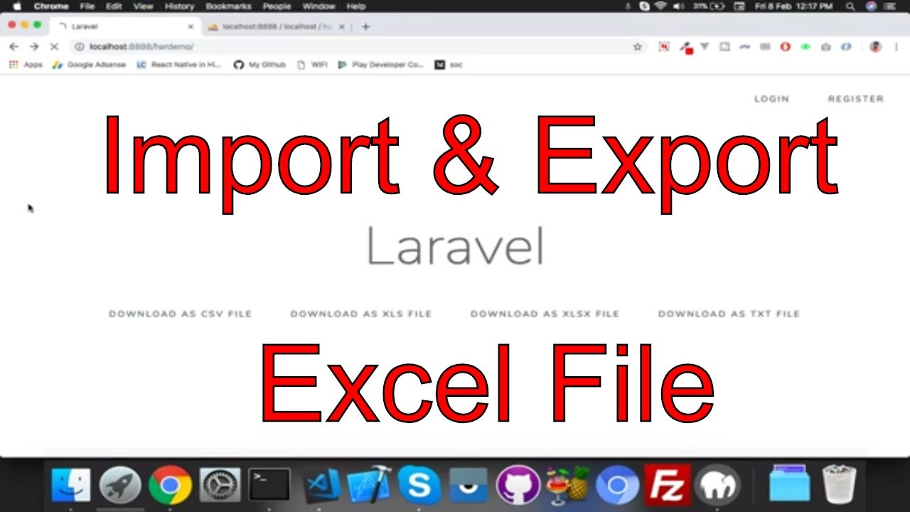 Import and export data in Laravel || maatwebsite || Laravel tutorial for  beginners