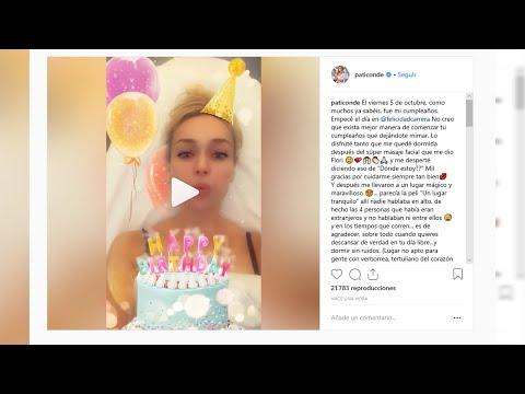 Patricia Conde acaba su cumpleaños en urgencias