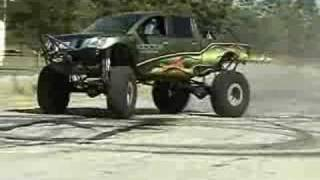 """Supercharged Nissan Titan 46"""" Baja Claws Destroyed"""