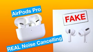 FAKE Apple AirPods Pro with REAL Noise Cancelling! 1:1 Clone, Buyers Beware!