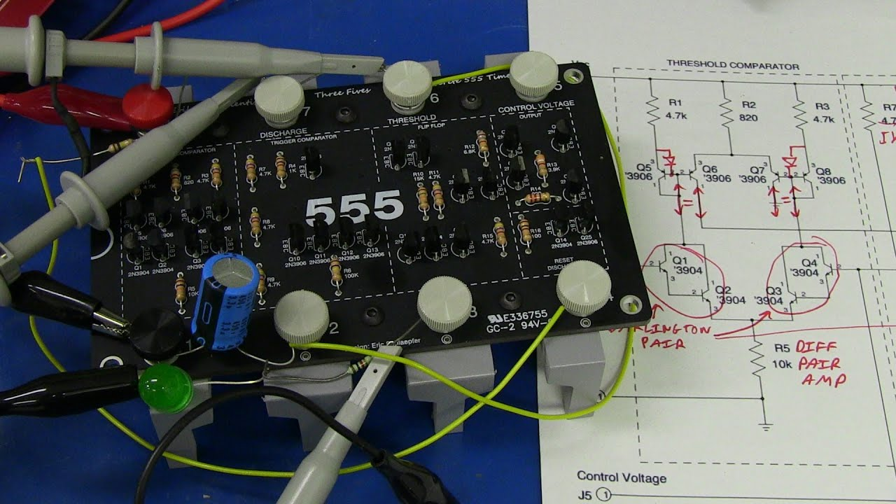 Eevblog 555 Timer Kit Youtube Internal Circuit Monostable Diagram Ic