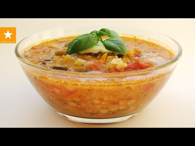 Томатный суп с чечевицей и специями. Очень быстрый рецепт от Мармеладной Лисицы