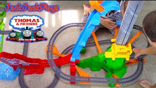 Thomas & Friends Trackmaster Toy UNBOXING Playing: Sky-High Bridge Jump Playset