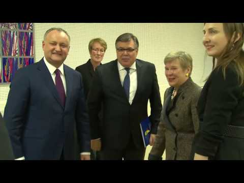 Visit to NATO by the President of the Republic of Moldova