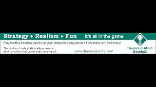 Taking a look at Diamond-Mind Baseball PC game