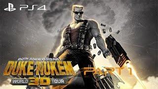 Duke Nukem 3D: 20th Anniversary World Tour Walkthrough Gamplay Part 1 - Hollywood Holocaust