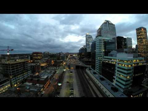 Night Fall downtown Calgary