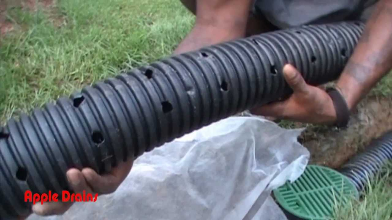 French drain for do it yourself project by apple drains charlotte french drain for do it yourself project by apple drains charlotte nc youtube solutioingenieria Choice Image