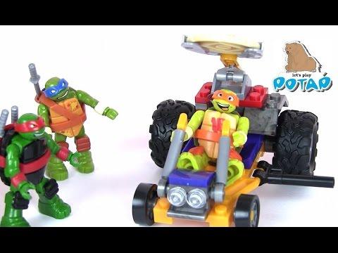 TMNT Pizza Racer Черепашки Ниндзя Мультик. Майк Стреляет Пиццей!!! Игрушки и Игры для Мальчиков