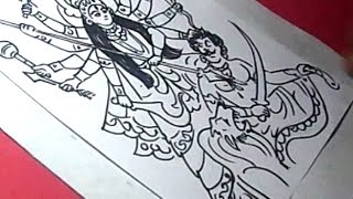 How to Draw GODDESS CHANDI DEVI Drawing