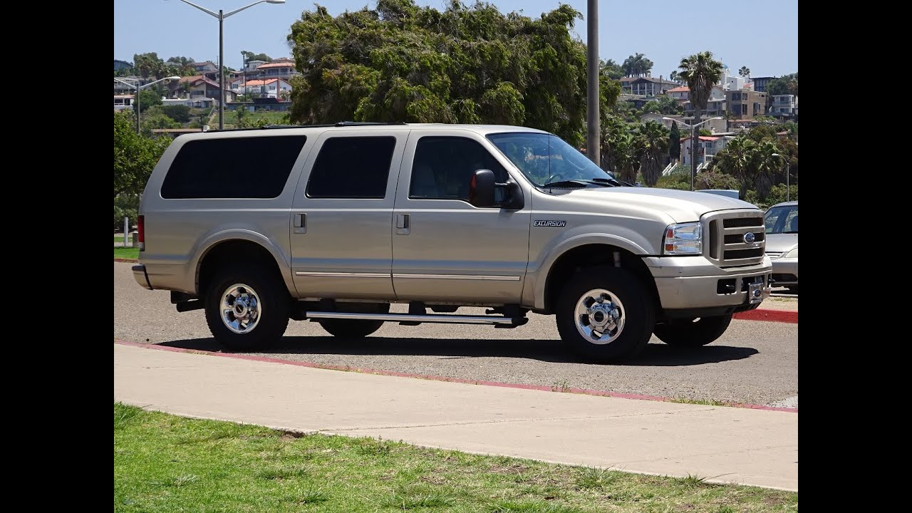 2005 ford excursion limited 4x4 1 owner leather loaded 105k miles 4wd 6 0l diesel youtube