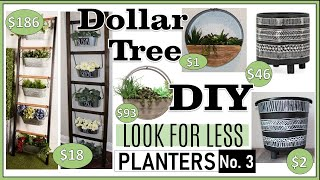 DOLLAR TREE DIY PLANTER IDEAS | LOOK FOR LESS | MODERN FARMHOUSE BOHO | FABEDhacks PLANTERS #3!