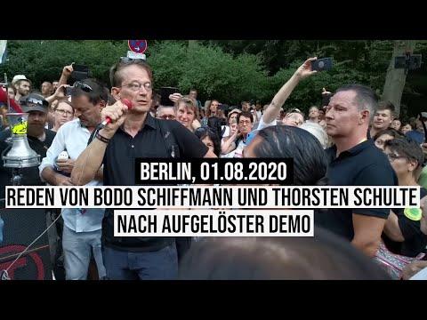 01.08.2020 Bodo Schiffmann & Thorsten Schulte/#Silberjunge sprechen zu begeisterten Anhängern #b0108
