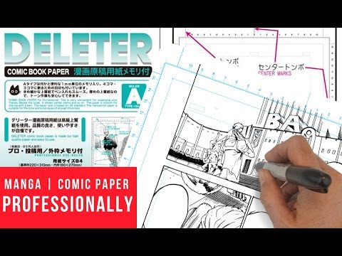 How To Use Manga Comic Book Paper Professionally