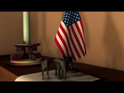 L'âne et l'éléphant, symboles des démocrates et des républicains