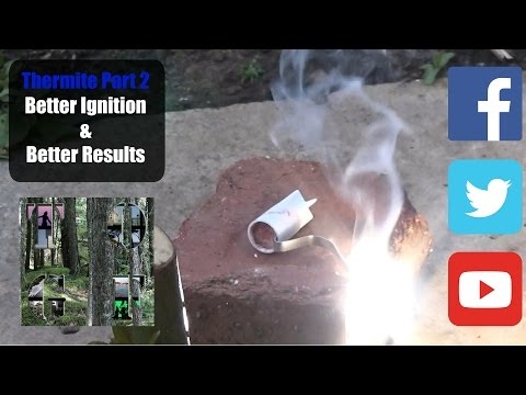 Thermite Test Two | Better Ignition | Magnesium Ribbon & Potassium Nitrate
