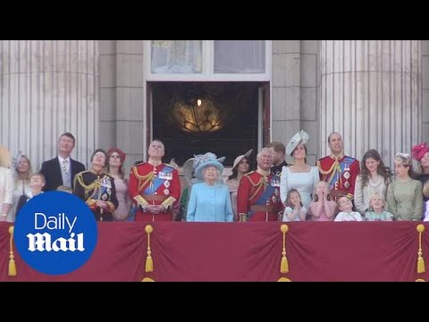 Royal family on the balcony after Trooping the Colour