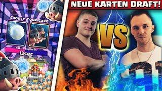 😂🎰TRYMACS vs CHEFSTROBEL! | Neue Karten Draft Duell! | Clash Royale ist back?!
