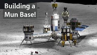 KSP: Building a Mun Base!