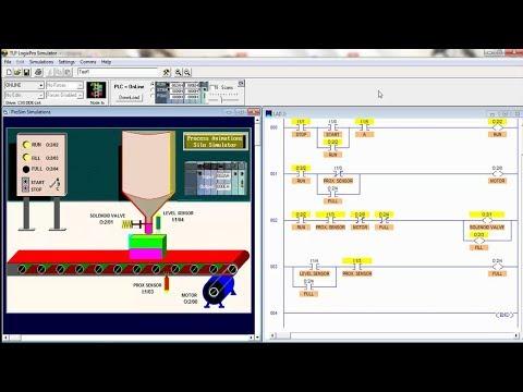 Diagrama de Escalera Simulación del Silo en LogixPro