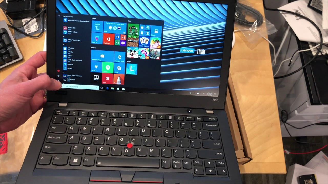 Lenovo Thinkpad X280 Unboxing Youtube