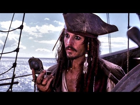 Pirates Of The Caribbean - He's a Pirate (Captain Jack jumps, flies, sails, arrives to port) Full HD