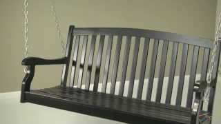 Pleasant Bay Black Painted Porch Swing - Product Review Video
