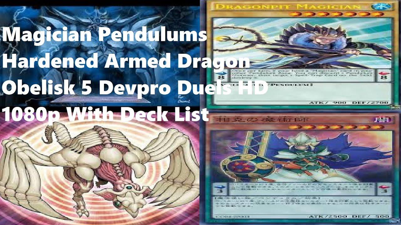 yugioh magician pendulums hardened armed dragon obelisk deck