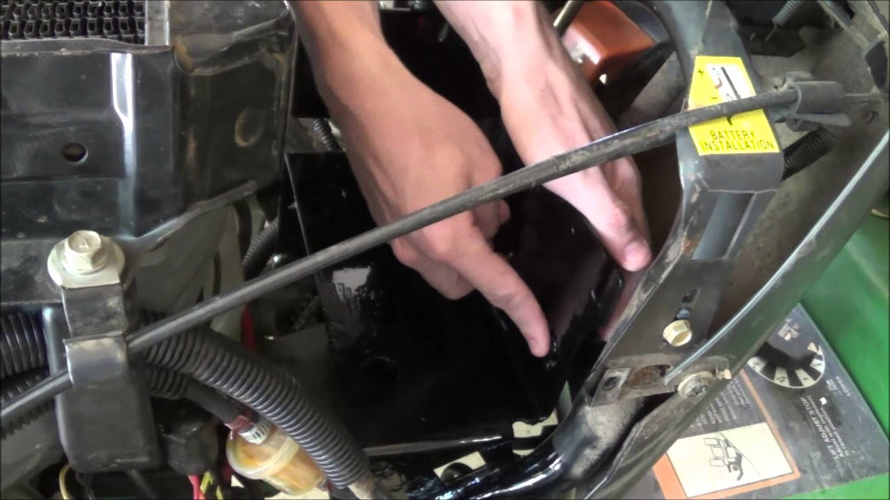 replacing a voltage regulator on a john deere 300 series