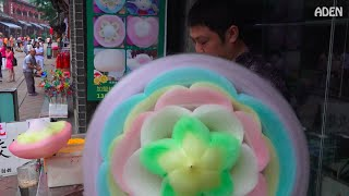 Cotton Candy Flower - the biggest in the world / 綿菓子 / 솜사탕 / Zuckerwatte / Algodón de Azúcar