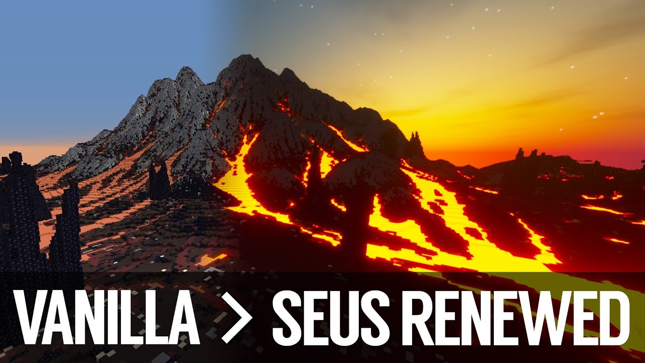 Vanilla VS SEUS Renewed 1 0 0 - Minecraft Shaders | Minecraft 1 12 2