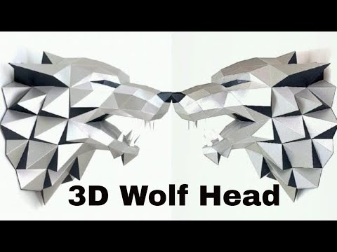 3D Wolf Head | Game of Thrones Dire Wolf head | Sculpting of the wolf's head | PAPER CRAFT 2018