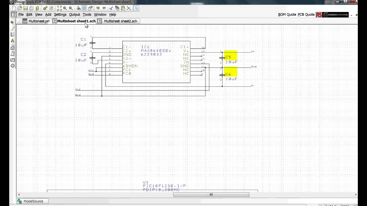 Designspark pcb tutorial schematic entry youtube designspark pcb tutorial schematic entry ccuart Gallery