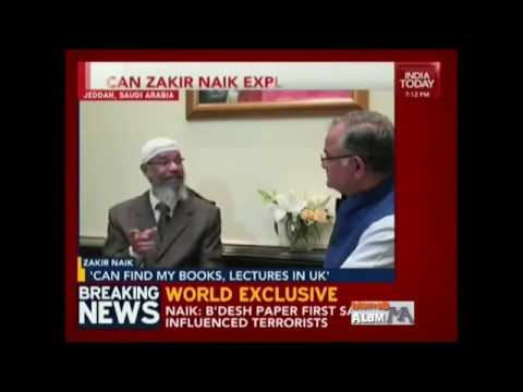 Aaj tak interview. Dr zakir naik not banned in any country of the world