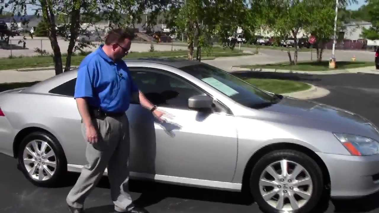 Used 2007 Honda Accord EX L V6 Coupe For Sale At Honda Cars Of  Bellevue...an Omaha Honda Dealer!   YouTube