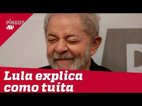 Lula explica como tuíta da cadeia