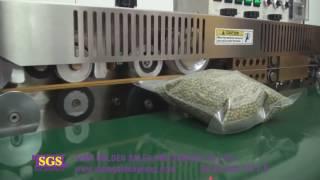 Repeat youtube video เครื่องซีลถุง ซีลปากถุง ซีลปากถุงพลาสติก สายพานกว้าง รุ่น FRW 200 Sealing Machine
