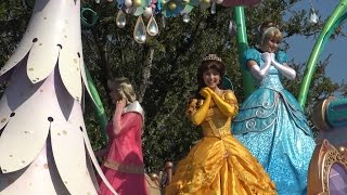 """TDL パレードがやって来た②プリンセス登場~「ハピネスイズヒア」Parade is coming!② """"Happiness Is here""""Princess appeared ~"""