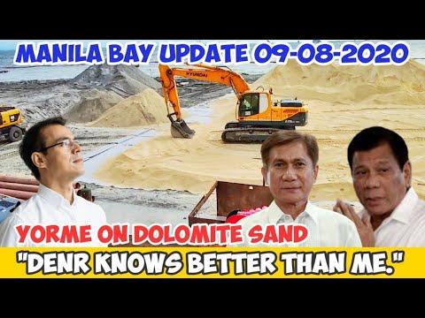 MAYOR ISKO on CRUSHED DOLOMITE BOULDERS | MANILA BAY UPDATE 09-08-2020