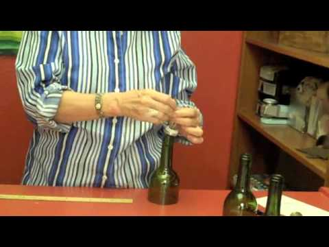 How to make a wind chime using recycled wine bottles.