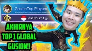 AKHIRNYA TOP 1 GUSION GLOBAL!! **noclickbait** - Mobile Legends