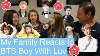 My Family Reacts to BTS Boy With Luv