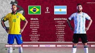 Download PES 2020 - Brazil vs Argentina - FIFA World Cup 2022 Qatar - NEW KITS - Gameplay | Neymar vs Messi